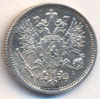 50 пенни 1889 г. L. Для Финляндии (Александр III).