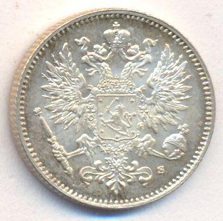50 пенни 1914 г. S. Для Финляндии (Николай II).