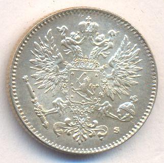 50 пенни 1915 г. S. Для Финляндии (Николай II).