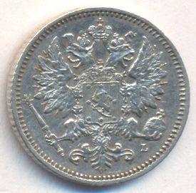25 пенни 1889 г. L. Для Финляндии (Александр III).