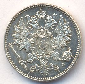 25 пенни 1899 г. L. Для Финляндии (Николай II).