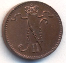 1 пенни 1902 г. Для Финляндии (Николай II).