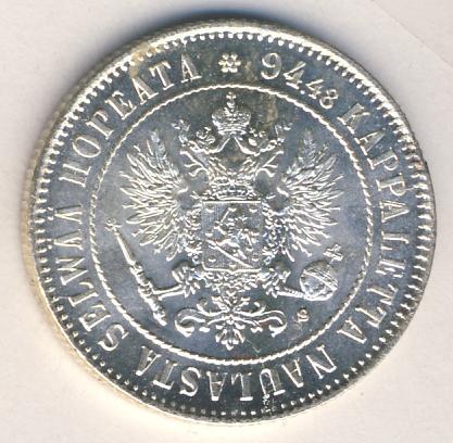1 марка 1915 г. S. Для Финляндии (Николай II).