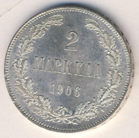 2 марки 1906 г. L. Для Финляндии (Николай II).