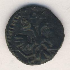 Полушка 1720 г. НД. Петр I. Год арабский. Набережный монетный двор