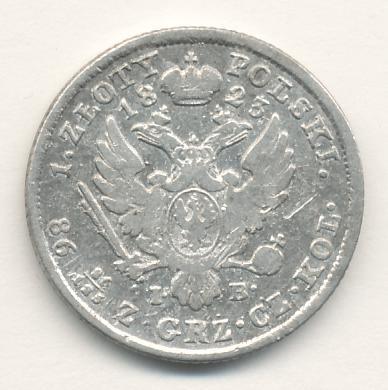 1 злотый 1823 г. IB. Для Польши (Александр I).