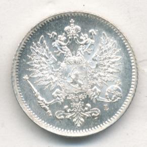 25 пенни 1907 г. L. Для Финляндии (Николай II).