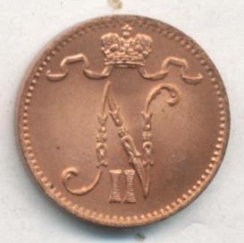 1 пенни 1915 г. Для Финляндии (Николай II).