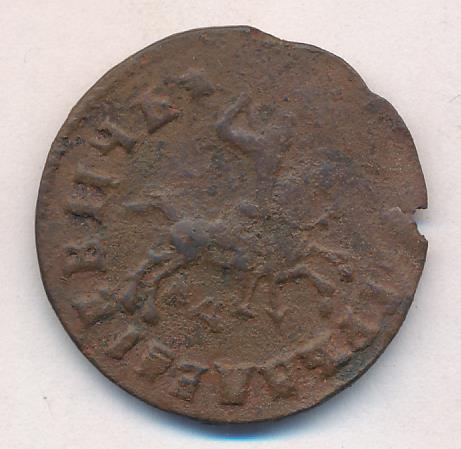 1 копейка 1716 g - регулярные медные монеты петра i.
