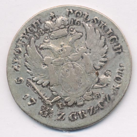 5 злотых 1816 г. IB. Для Польши (Александр I)
