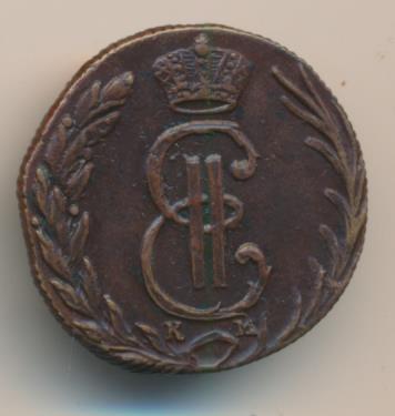 Денга 1769 г. ЕМ. Екатерина II.