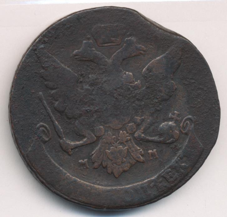 5 копеек (ильин-1р, петров-1р). 1759.