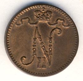 1 пенни 1901 г. Для Финляндии (Николай II).