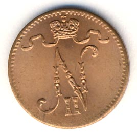 1 пенни 1916 г. Для Финляндии (Николай II).