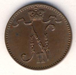 1 пенни 1903 г. Для Финляндии (Николай II).